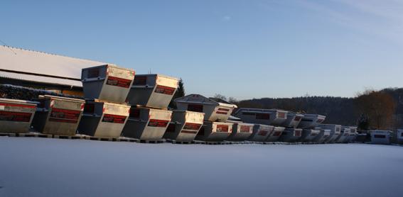 Unsere Container im Winter